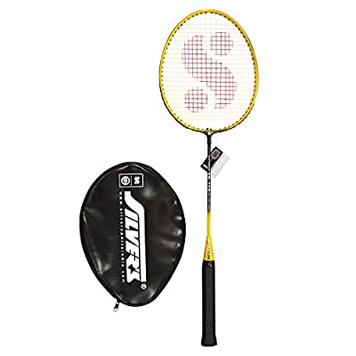 Silver's SB-119 Badminton Racquet in 1/2 Cover, Senior G3 (Yellow/Black)