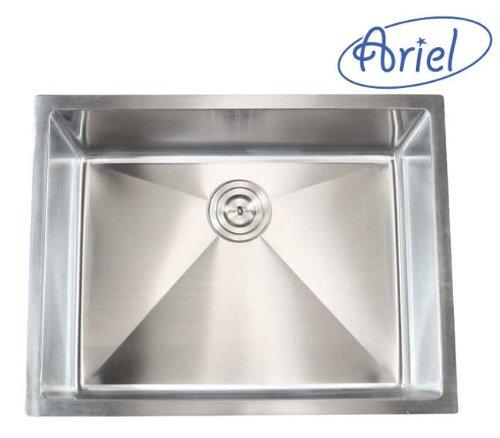 Ariel 26 Inch Stainless Steel Undermount Single Bowl