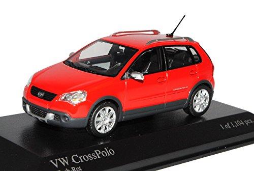 VW-Volkswagen-Cross-Polo-Rot-9N3-Rot-2005-2009-143-Minichamps-Modell-Auto-mit-individiuellem-Wunschkennzeichen