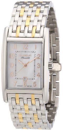 Dugena 7000122 - Reloj analógico de cuarzo para mujer con correa de acero inoxidable, color plateado