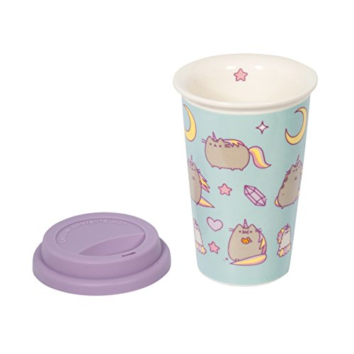 Unicorno blu Pusheen Ceramic Travel Mug