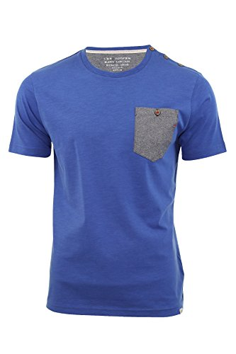 Lee Cooper -  T-shirt - Maniche corte  - Uomo Batchley (True Blue) X-Large