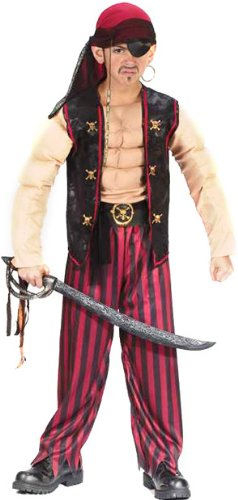 Children's Muscle Pirate Costume (Size:MD 8-10)