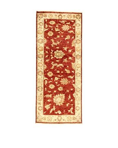 L'EDEN DEL TAPPETO Alfombra Zeigler Beige/Rojo 81 x 196 cm