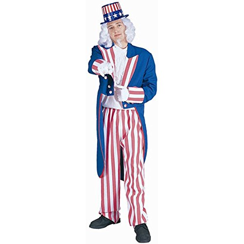 Uncle Sam Adult Costume (Size: Standard 42-46)