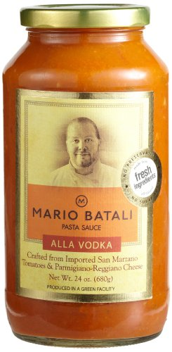 Mario Batali Alla Vodka Pasta Sauce, 24-Ounce Glass Jars (Pack of 3) (Spaghetti 24 Oz compare prices)