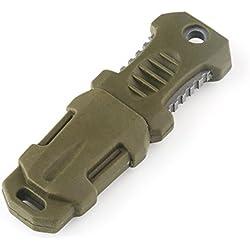 VERY100 EDC Tactical Mini Pocket Knife Blade Webbing Camping Survival Tool Taschenmesser (Grün)