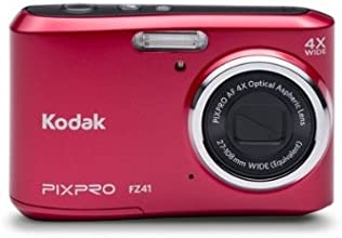 Kodak FZ41 Red 16 MP Digital Camera with 4x Optical Image Stabilized Zoom and 2.7-Inch LCD