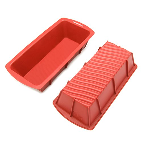 Freshware CB-103M 9-inch Medium Silicone Mold/Loaf Pan for Soap and Bread - 1 PC (Fruit Cake Loaf compare prices)