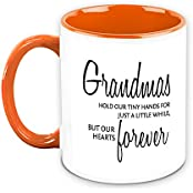 Gift For Grandma - HomeSoGood Grandma Lives In Our Heart Forever White Ceramic Coffee Mug - 325 Ml