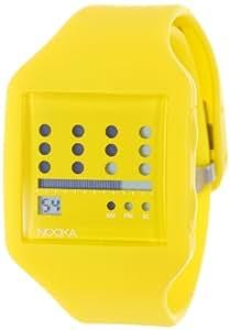 Nooka Unisex ZUB-ZOT-YL-20 Zub Zot Yellow Polyurethane Watch