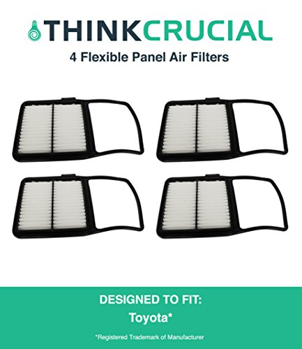 "4 Premium Rigid Panel Air Filter, Fits Toyota Prius Hybrid, Maximum Air Flow, 1.04"" x 7.34"" x 11.35"" in., Part # A25698 & # CA10159, by Think Crucial"