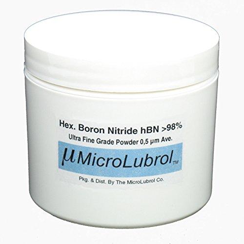 MICROLUBROL 1 oz HEXAGONAL BORON NITRIDE hBN Powder ULTRA FINE 0.5 µ micron (Boron Nitride Bullet compare prices)