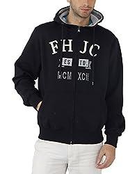 Fahrenheit Men's Fleece Sweat Shirt (8903942224720_Dark Blue_Large)