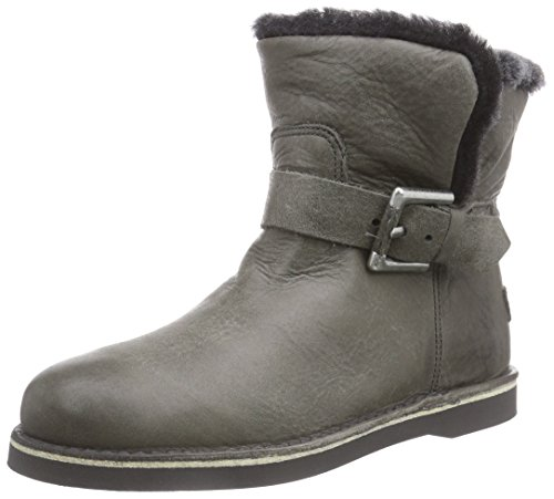 Shabbies Amsterdam Shabbies buckle strap short boot 17cm DF55 Merino lammy lining Alexia, Stivaletti classici imbottiti, corti donna,  Grigio (Grau (Sottobosco 459)), 40