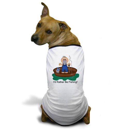 Cafepress I'D Rather Be Fishing Dog T-Shirt - Xl White [Misc.] front-51926