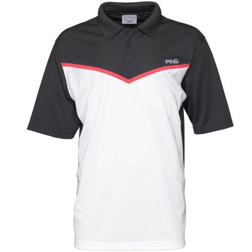Ping Collection Mens Tonic Chevron Polo White/Black