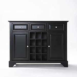 Buy black buffets and sideboards - Crosley Furniture Crosley Lafayette Buffet Server / Sideboard Cabinet W/ Wine Storage In Black