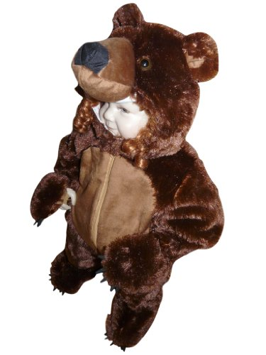 Fantasy World Girl's F67 Brown Bear Costume (6 Months-3t)