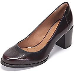 Clarks Tarah Sofia, Damen Pumps, Rot (Burgundy Leather), 38 EU (5 Damen UK)