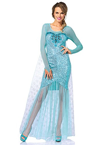 Leg Avenue Women's Fantasy Snow Queen Elsa Costume, Aqua, Small