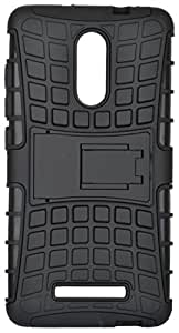 Shopely Hard Aurmor Hybrid Rubber Bumper for Oppo R7 Lite (Black)
