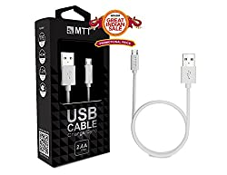 MTT® TPE Micro USB Cable - Fast Charging , Incredibly Durable and Premium Quality (1.2M, White)