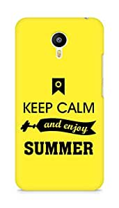 Amez Keey Calm and Enjoy Summer Back Cover For Meizum 2 Note