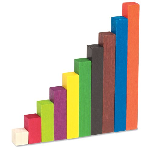 Cuisenaire Rods Kit for Fractions, Wood, Grades 4-6 (12 Trays, 1 Set ...