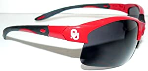 NCAA Officially Licensed Oklahoma Sooners Blade Style Sunglasses