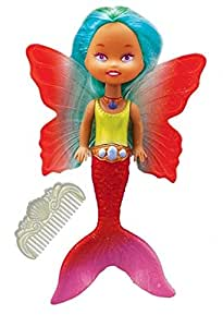 6 Fairy Tails Color Changing Mermaid With Red Wings Swimming Pool Toy Patio Lawn