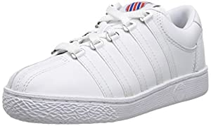 K-Swiss 501 Classic Tennis Shoe (Little Kid),White,12 M US Little Kid
