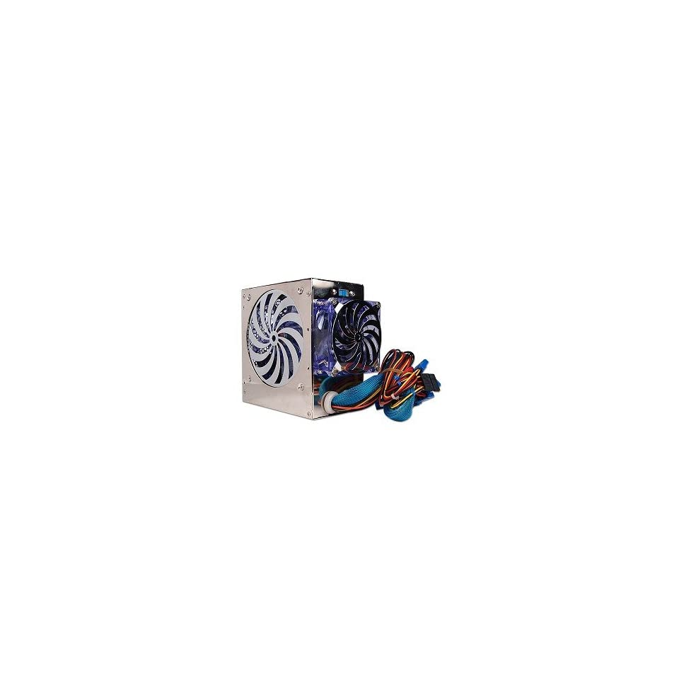 Demon 580 Watt 20 pin Dual Fan ATX Power Supply with SATA & LEDs