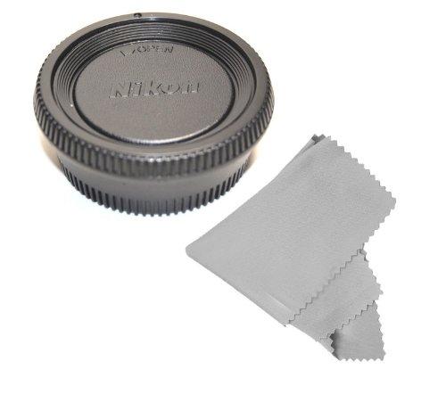 Cowboystudio Rear Lens Cap And Camera Body Cover Cap For Nikon Dslr Cameras (D7000 D5100 D5000 D3200 D3100 D3000 D90 D80 D300S D700) + Microfiber Cleaning Cloth