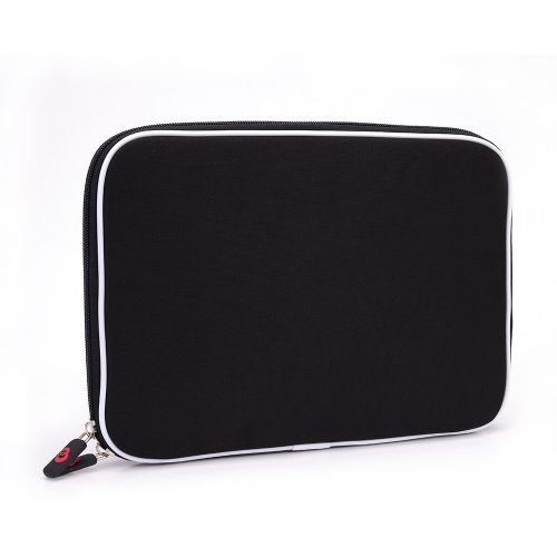 Halcyon Memory Foam Sleeve Case Wanderings Bag for 10.1 Dell Latitude Tablet - Black. Bonus Ekatomi Sift Cleaner Sticker [8022]
