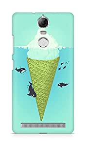Amez designer printed 3d premium high quality back case cover for Lenovo K5 Note (Whale green sea icecream iceberg)