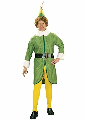 Mememall Fashion Adult Buddy the Elf Santas Helper Christmas Costume Std & Plus Size XL (Deluxe Buddy The Elf Costume)
