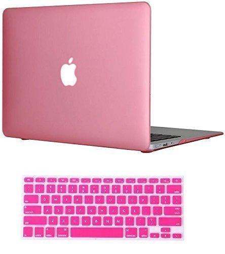 Destrt MacBook Air Case, MacBook Air 13 ケース, MacBook Air ディスプレイ 13インチ 専用 (Mid 2013/Early 2014 対応) マット加工 ハード シェル パソコンケース (ピンク) [並行輸入品]