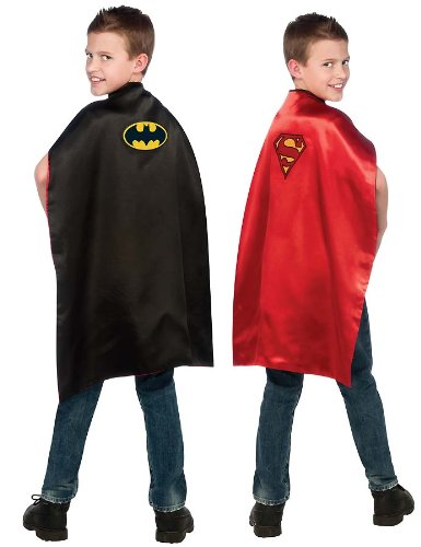 Batman and Superman Reversible Kids Cape