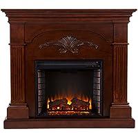 SEI Florentine Electric Fireplace (Mahogany)