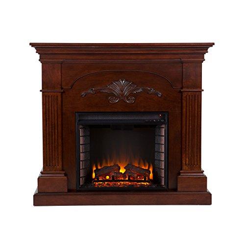 Sei Sicilian Harvest Electric Fireplace, Mahogany