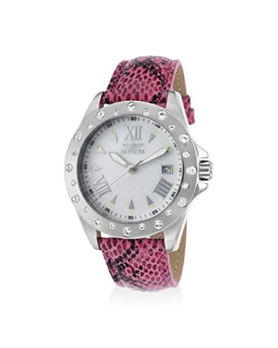 Invicta Women's 18346 Angel Pink/White Mother-of-Pearl Leather Watch