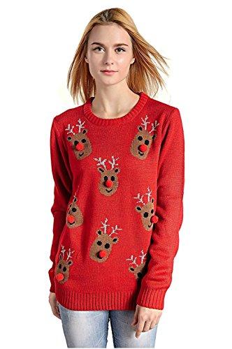 Reindeer Snowflakes Sweater3D-Nose