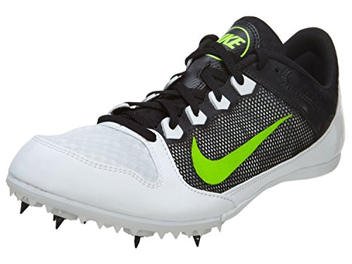 Nike Zoom Rival MD 7 Sprint Racing Running Shoes, Sneakers (616312-103) ((Men's 6) (Women's 7.5), WHITE/ELECTRIC GREEN-BLACK) (Nike Zoom Rival Md 7 White compare prices)