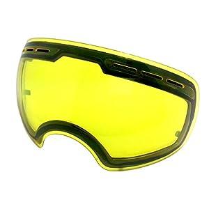SameTop Mirror Coating Anti-fog UV 400 Protection Spherical Dual Lenses Snow Skate Ski Goggles Night Ski Lenses