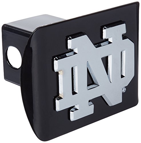 Elektroplate Chrome Notre Dame Metal Trailer Hitch Cover, Black (Notre Dame Tow Hitch Cover compare prices)