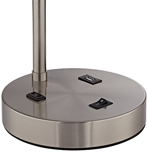 Colby Modern Desk Table Lamp With Hotel Style Usb And Ac