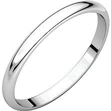 buy Men'S 14K White Gold 2Mm Slim Wedding Band Ring