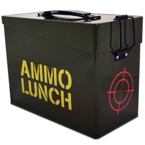 Fizz Creations Ltd - Scatola per pranzo Ammo Lunch, colore: Verde