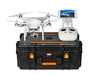 DJI Phantom 3 Waterproof Case, Rugged Military Grade designed to fit the Phantom 3 Professional, and Advanced Edition Drones, Koozam Products